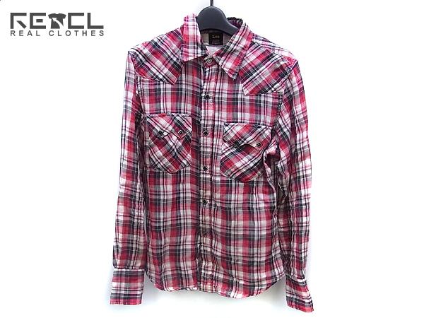 BLACKTOP MOTORCYCLE×Lee チェックシャツ/ネルシャツ 赤系 S