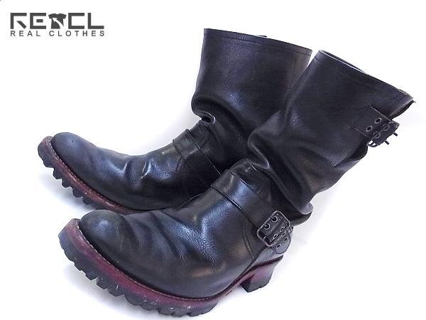 IZREEL/イズリール レザーエンジニアブーツ ブラック 5351/42