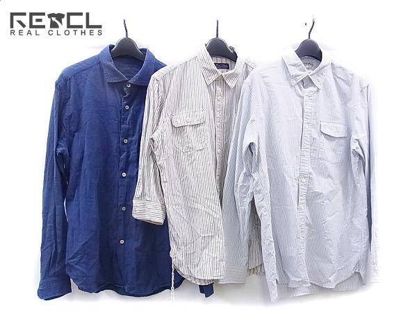 RRL&CO/コールブラック等 ストライプ/無地 シャツ 3点セット