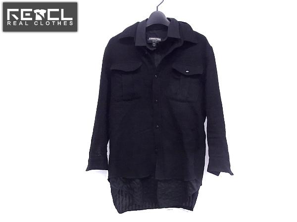 CONNECTERS/コネクターズ ウールシャツ 胸ポケット ブラック/S