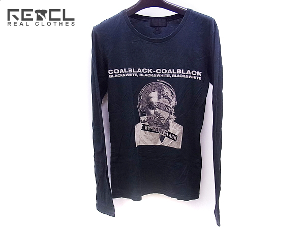 COALBLACK/コールブラック 長袖/ロングプリントTシャツ 黒/S