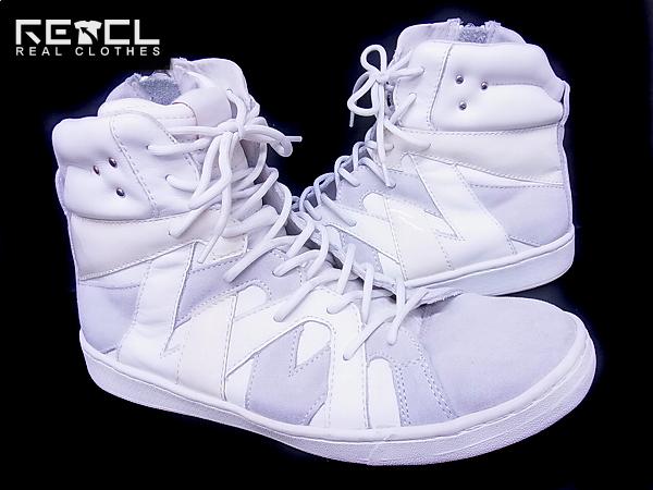 ホワイトフラッグス アンリ サイドジップスニーカー 白×灰