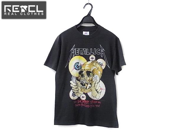 METALLICA/メタリカ 88年 パスヘッド ビンテージTシャツ 黒/M