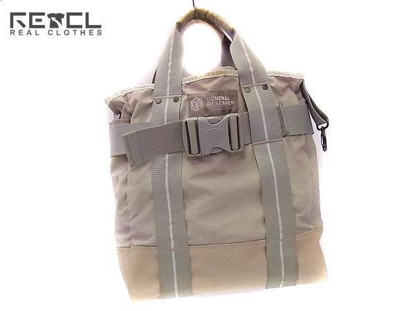 GENERAL RESEARCH/ジェネラルリサーチ ミリタリートートバッグ