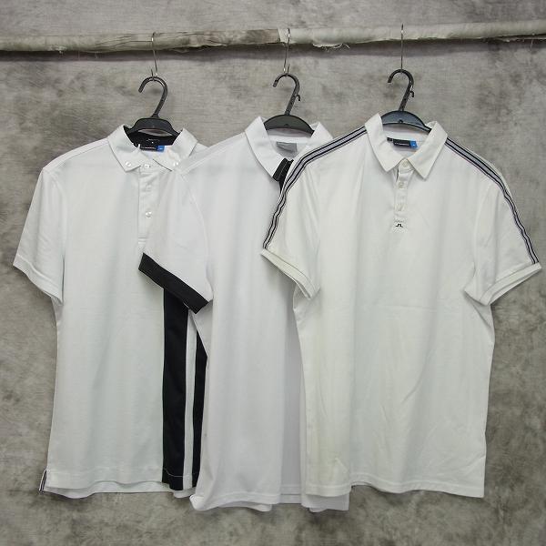 古着 J.LINDEBERG/Jリンドバーグ 半袖ポロシャツ3点セット ホワイト他