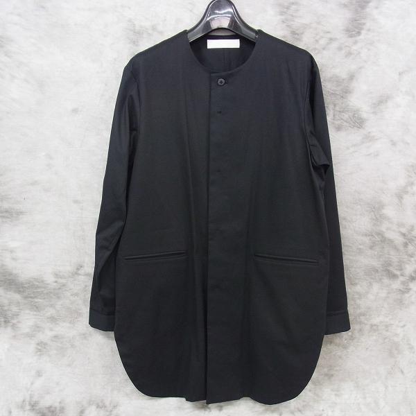 ETHOSENS/エトセンス ノーカラーロングシャツ シャツコート