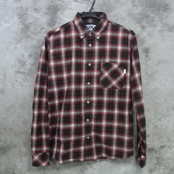 GDC/ジーディーシー ネルシャツ/チェックシャツ ボタンダウン /L