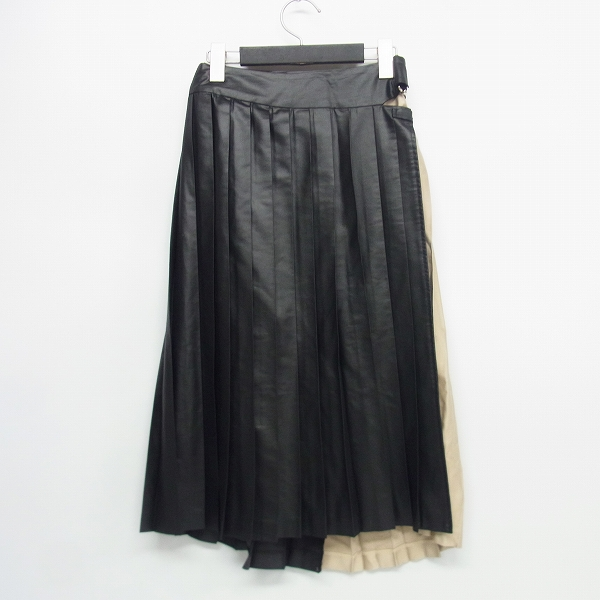 FAD THREE/ファドスリー プリーツラップスカート M