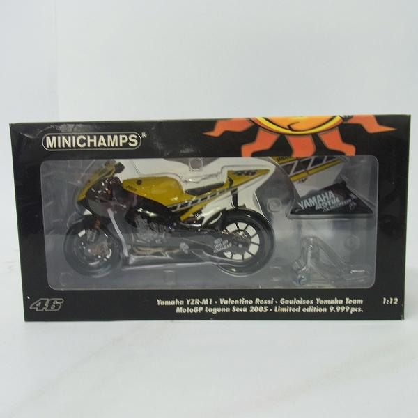 MINICHAMPS/ミニチャンプス 1/12 Yamaha YZR-M1 Valentino Rossi Moto GP Laguna Seca 2005/122 053096
