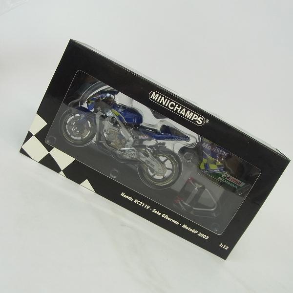 MINICHAMPS/ミニチャンプス ホンダ 1/12 Honda RC211V Sete Gibernau Moto GP 2003/122 037115