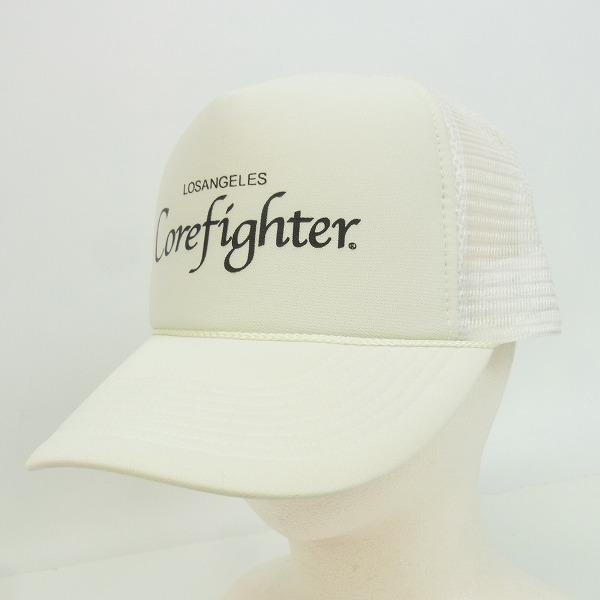 COREFIGHTER/コアファイター LOSANGELS Corefighter プリント メッシュキャップホワイト