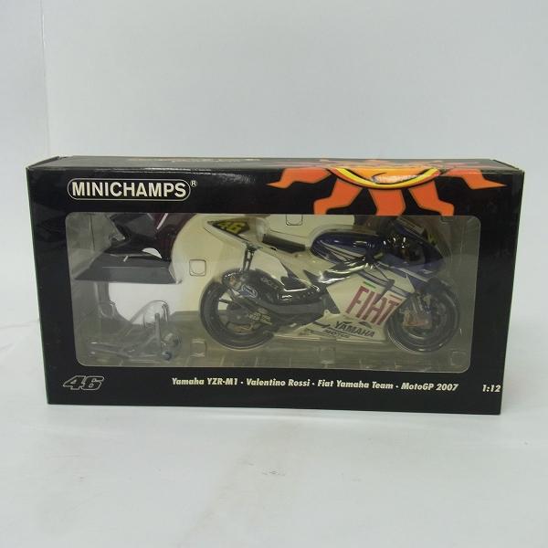 MINICHAMPS/ミニチャンプス 1/12 Yamaha YZR-M1 Valentino Rossi Moto GP 2007/122 073046