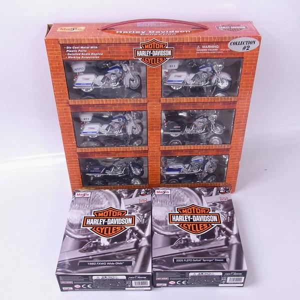 Maisto/マイスト  Harley Davidson collection#2 1/18 モデルキットFLSTCI FXWG 1/18 3点セット
