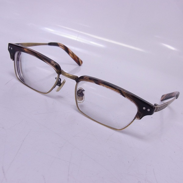 金子眼鏡 恒眸作 サーモント型 セルロイド 眼鏡/メガネフレーム T-253. Col.RDS
