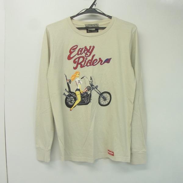 BLACKTOP MOTORCYCLE×THEATER 8 xイージーライダー GIRLバイカー 長袖Tシャツ/M