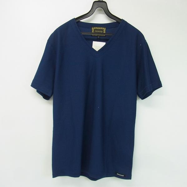 【未使用】drestrip/ドレストリップ COOL MAX Vネック Tシャツ ネイビー 3